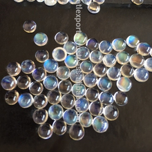Wholesale Lot Of white Rainbow Moonstone Cabochon round & oval