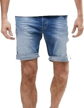 Custom Denim Short 1897 Tapered Fit Mid Wash Denim Shorts Jean