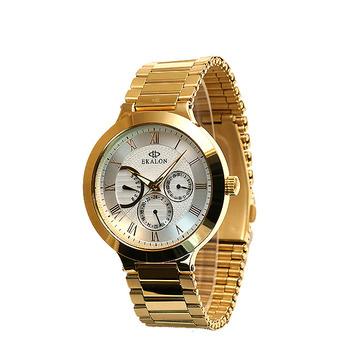 661323a0 2018 корейские мужские Черное золото Роскошные наручные Многофункциональный  часы Moonphase с нержавеющей стали ремешок, японские