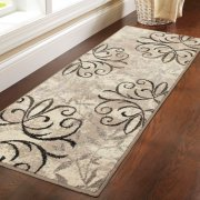 "Better Homes and Gardens Iron Fleur Area Rug or Runner, 1'11""x9'8"" (Biege)"