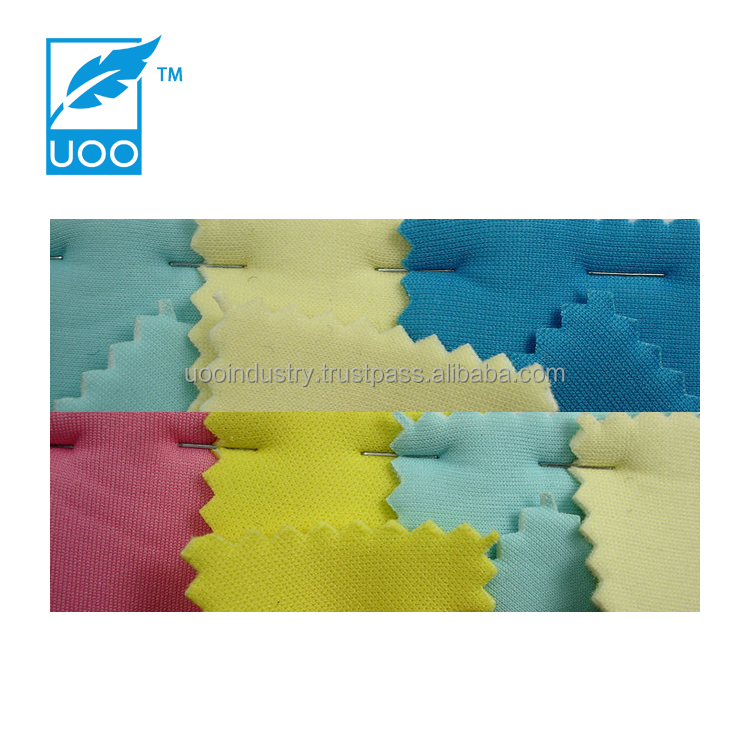UOO Thin Elastic Neoprene Sheet Fabric with Knitted Fabric in Plain Color