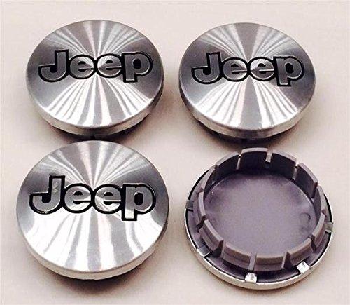 4X Jeep 55MM Wheel Center Cover Cap Aluminum Silver Jeep Grand Cherokee Wrangler