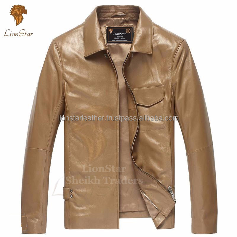 Lionstar Stylish Fancy Men Gents Fashion Real Sheep Leather Jacket