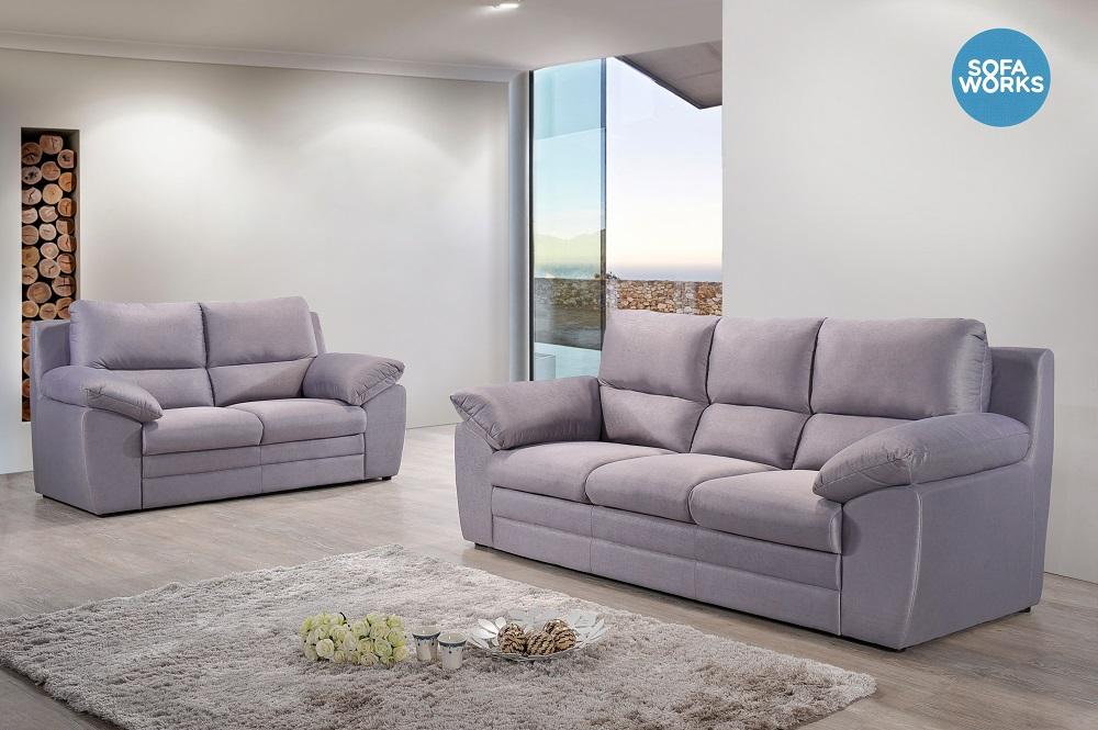 Plastic Ng Clic Fabric Sofa Living Room Furniture Modern 3 2 Seater Set