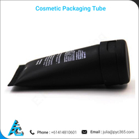 Best Quality Empty Black Plastic Cosmetic Packaging Tubes