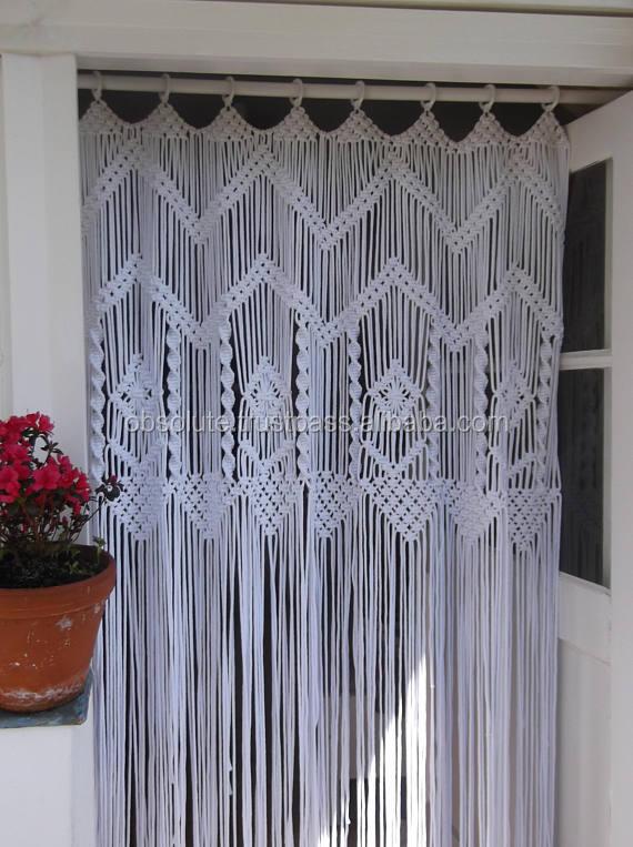 New Design Macrame Curtains For Home Christmas Wedding
