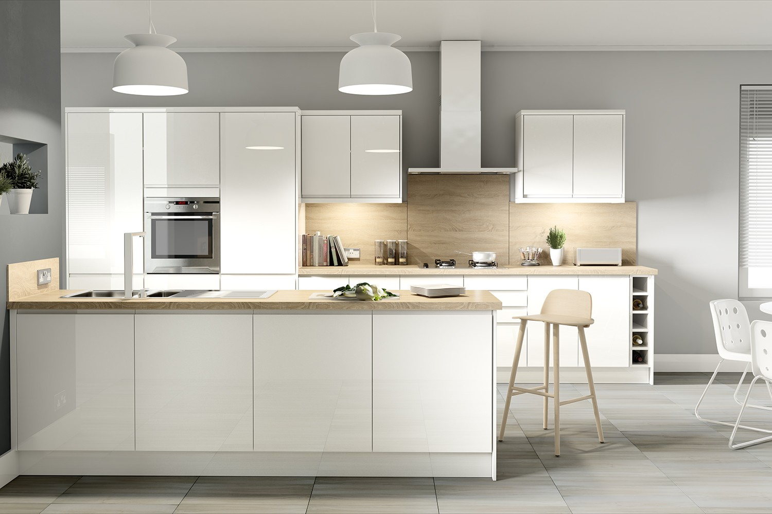 Customize commercial kitchen cabinet design from Foshan factory