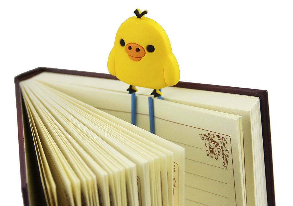 5 pcs Cartoon Paperclip Large Cute Bookmarks Page Marker Decorative Paper Clip Set Chick Page Holder for Book Office School Notebook Agenda Pad
