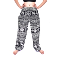 Elephants Harem pants, Rayon pants, Printed Harem pants