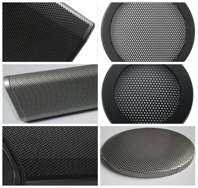 Black Perforated Metal Mesh Panel For Metal Speaker Grille