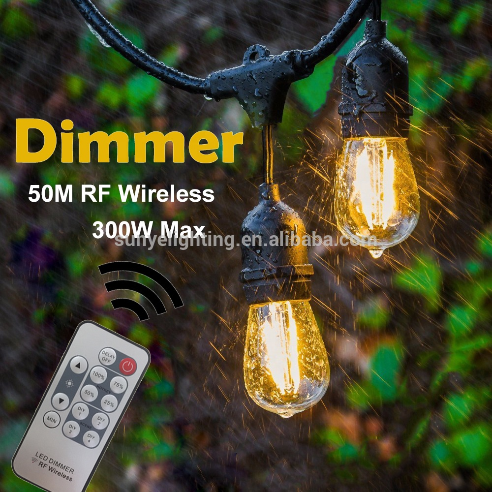 One Set 240W Wireless Remote Control String Lights Use For Outside Garden Waterproof String Lights For dimmer function