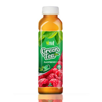 500ml Real Green Tea with Raspberry juice in Pet bottle