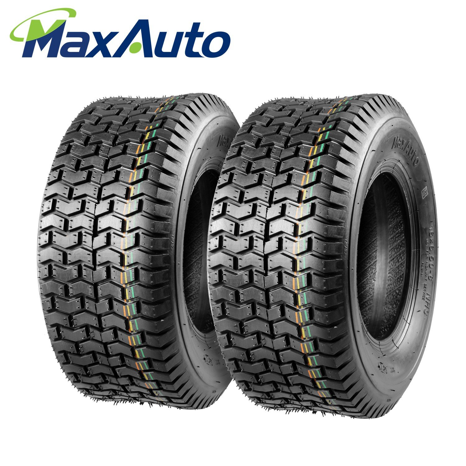 Set of 2 16x6.50-8 16/6.50-8 Turf Tires 4Ply Tubeless for Garden Tractor Lawn mower