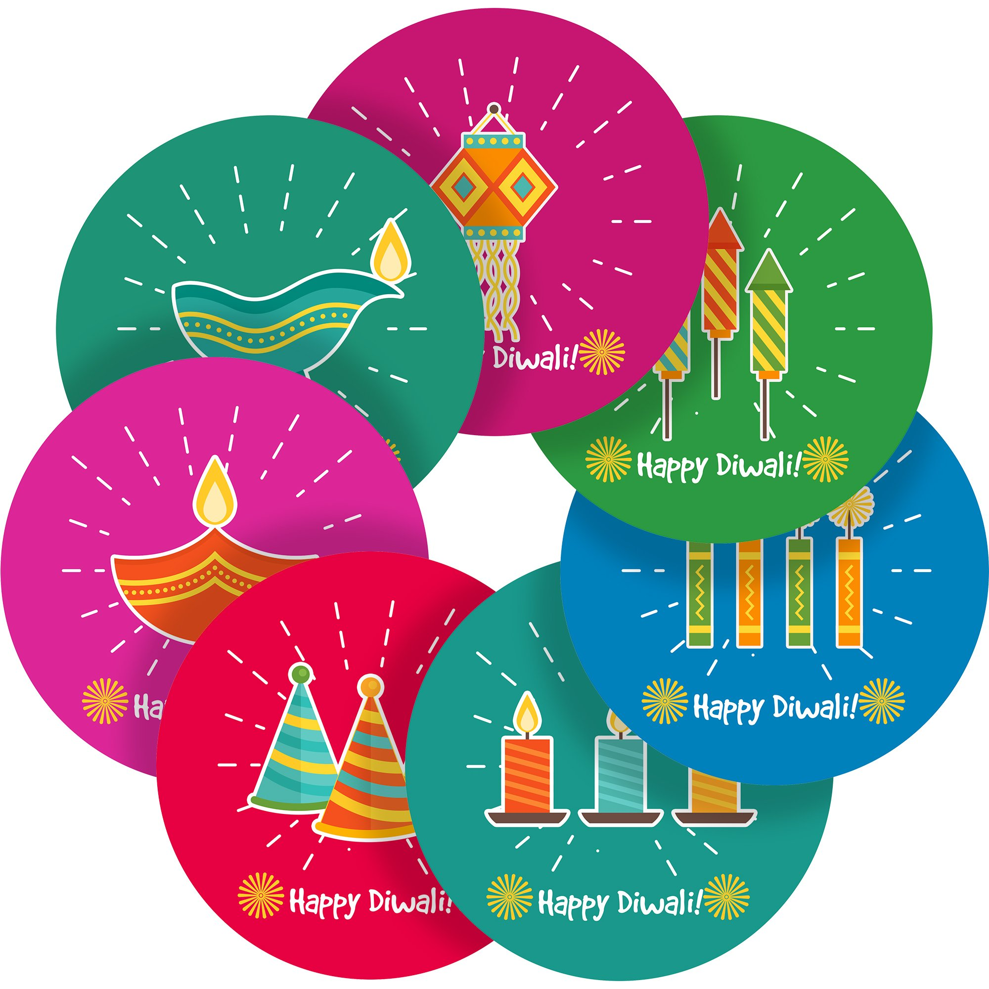 Get quotations · happy diwali festival india reward sticker labels 35 stickers 1 4 inch glossy