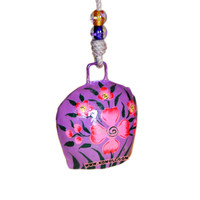 Expression painting on metal cow bell colorful wholesale swiss cow bells for home & garden