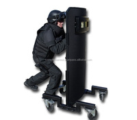 Handhold ballistic shield NIJ IV B6+ SHIELD WITH QUAD TROLLEY