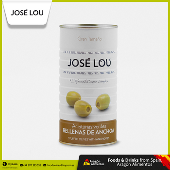 Spanish Manzanilla Green Olive Stuffed with Anchovies Wholesale | Hijos de Jose Lou