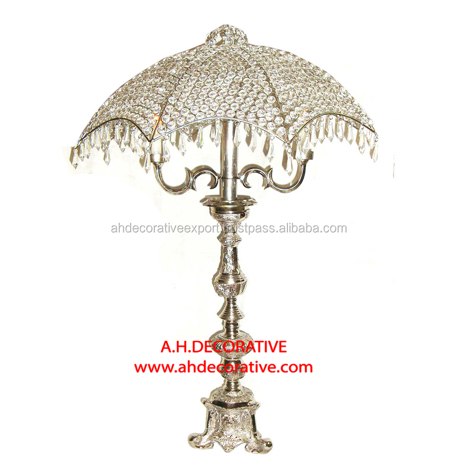 Guest Table Crystal Umbrella Centerpiece Tripod Base