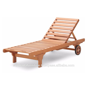 cheap Outdoor Teak Wooden Sun Lounger