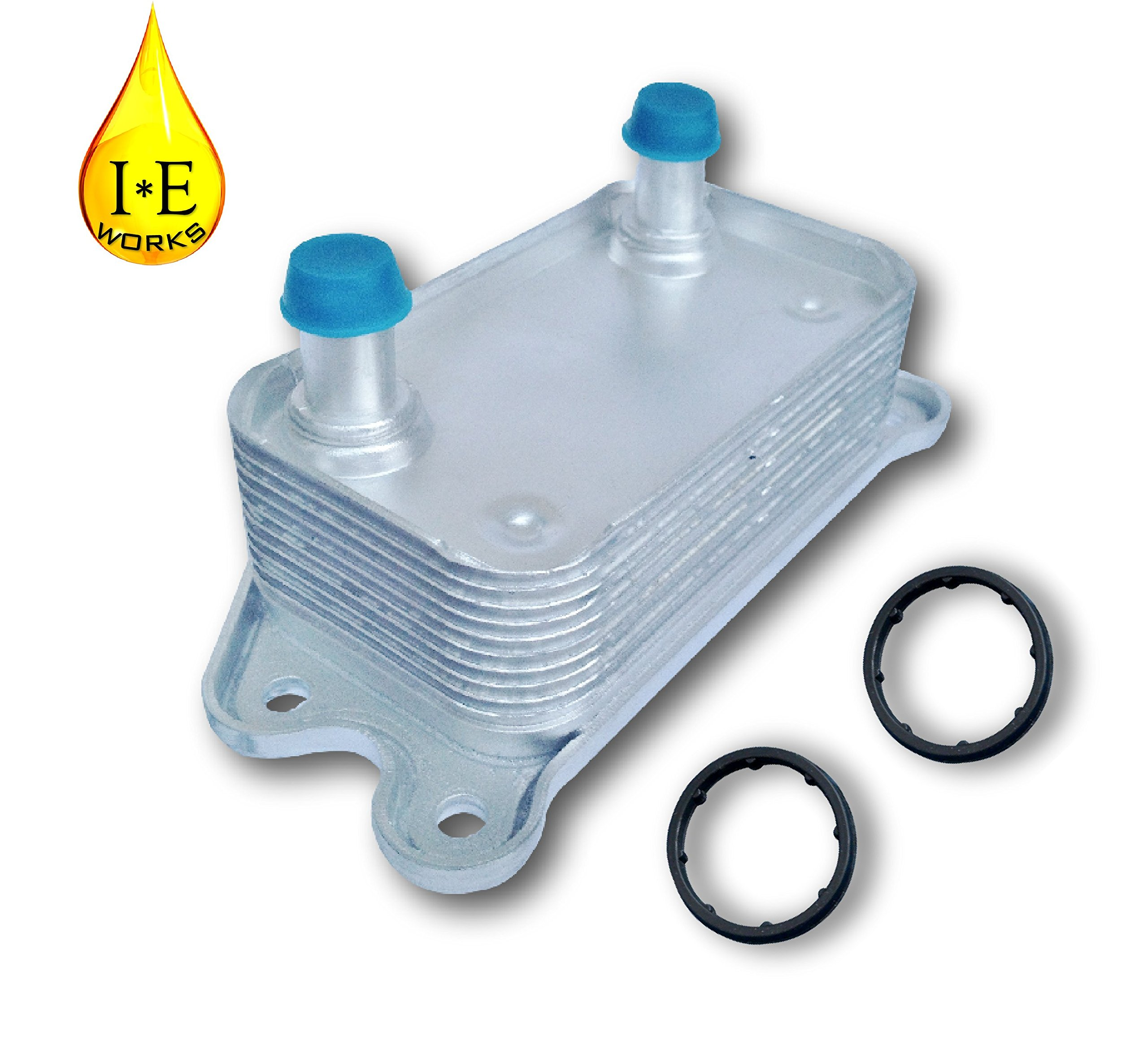 IE Works 30637966 New Engine Oil Cooler for VOLVO 2.4L 2.5L T5 with O-Rings