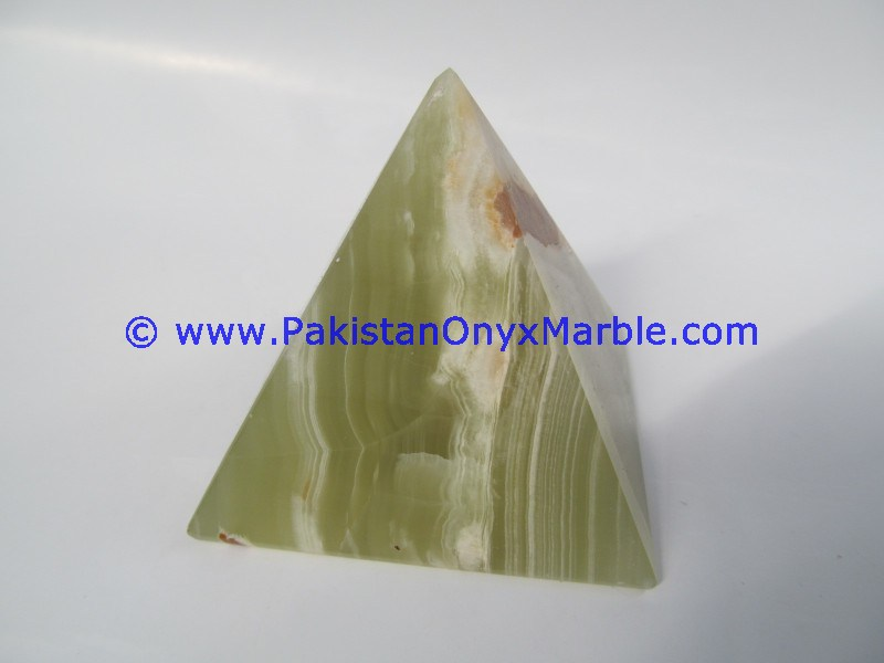 MANUFACTURER AND EXPORTERS ONYX PYRAMIDS DARK GREEN OFFICE HOME DECOR GIFTS