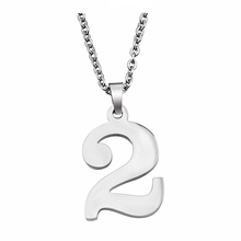316L Stainless Steel Silver Jewelry (High) 저 (Polishing Best Friend Gift Birthday Gift 0-9 운 수 (펜 던 트 Necklace
