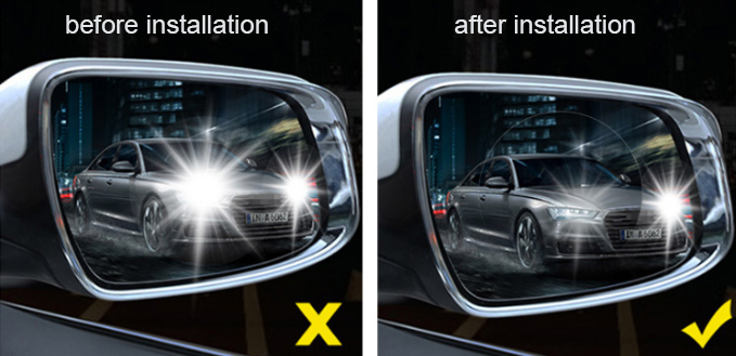 Hot sale Car Wing view Mirror Protective Film Universal Protective Film  Anti Fog Rainproof Rear View Mirror film