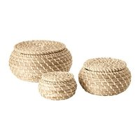 Seagrass basket with lid - Wicker Picnic Basket
