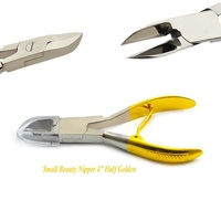 Professional Stainless Steel Finger Nail Toe Nail and Edge Cutter Clipper with Flexible Single Spring and Long Efficient Tip