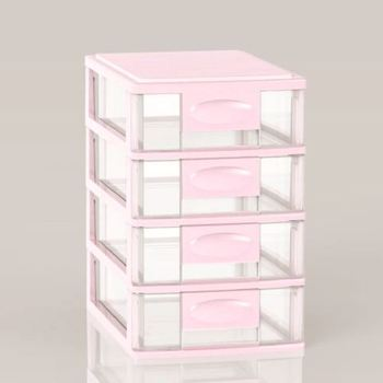 Pink Plastic Mini Cabinet/ High Quality Storage Cabinet 4 Drawers & Pink Plastic Mini Cabinet/ High Quality Storage Cabinet 4 Drawers ...
