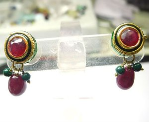 indian victorian jewelry earring set
