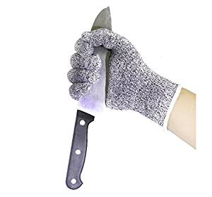 TOBOLE Anti-cutting HPPE Diipped Gloves Wear-Resistant Cutting Wood Kitchen Gardening Gloves (Large)