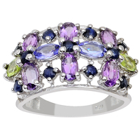 Exclusive newest gemstone cluster ring multi stone ring wholesale silver jewelry Fashion Silver