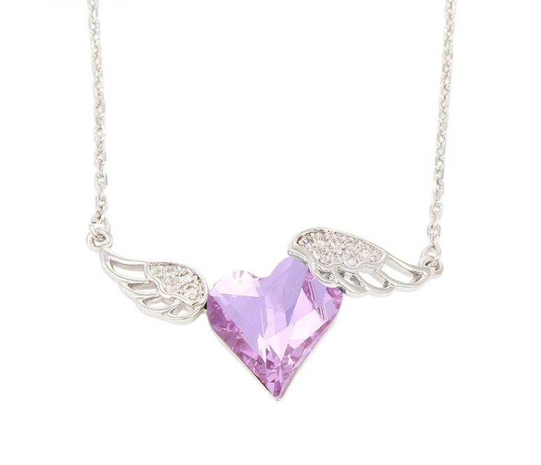 40d15210db948 N0329002- Wholesale Fashion Jewelry Crystals From Swarovski,Angel Wing  Necklace - Buy Necklace,Angel Wing Necklace,Crystals From Swarovski Product  on ...
