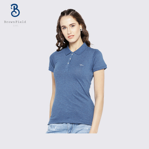 Manufacturer Bangladesh Women Plain Short Sleeve Custom High Quality Promotional Gym Pk Polo