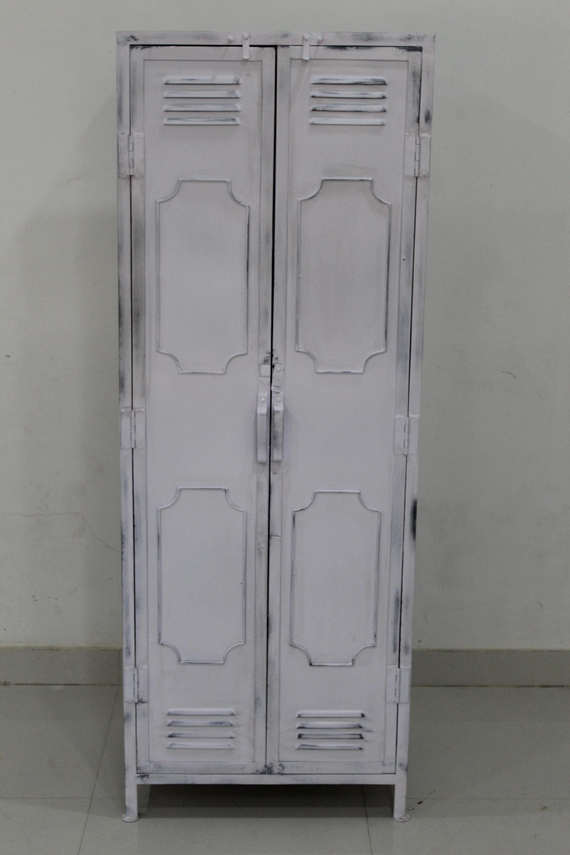 silver elite wardrobe steel cupboard combination grey metal go