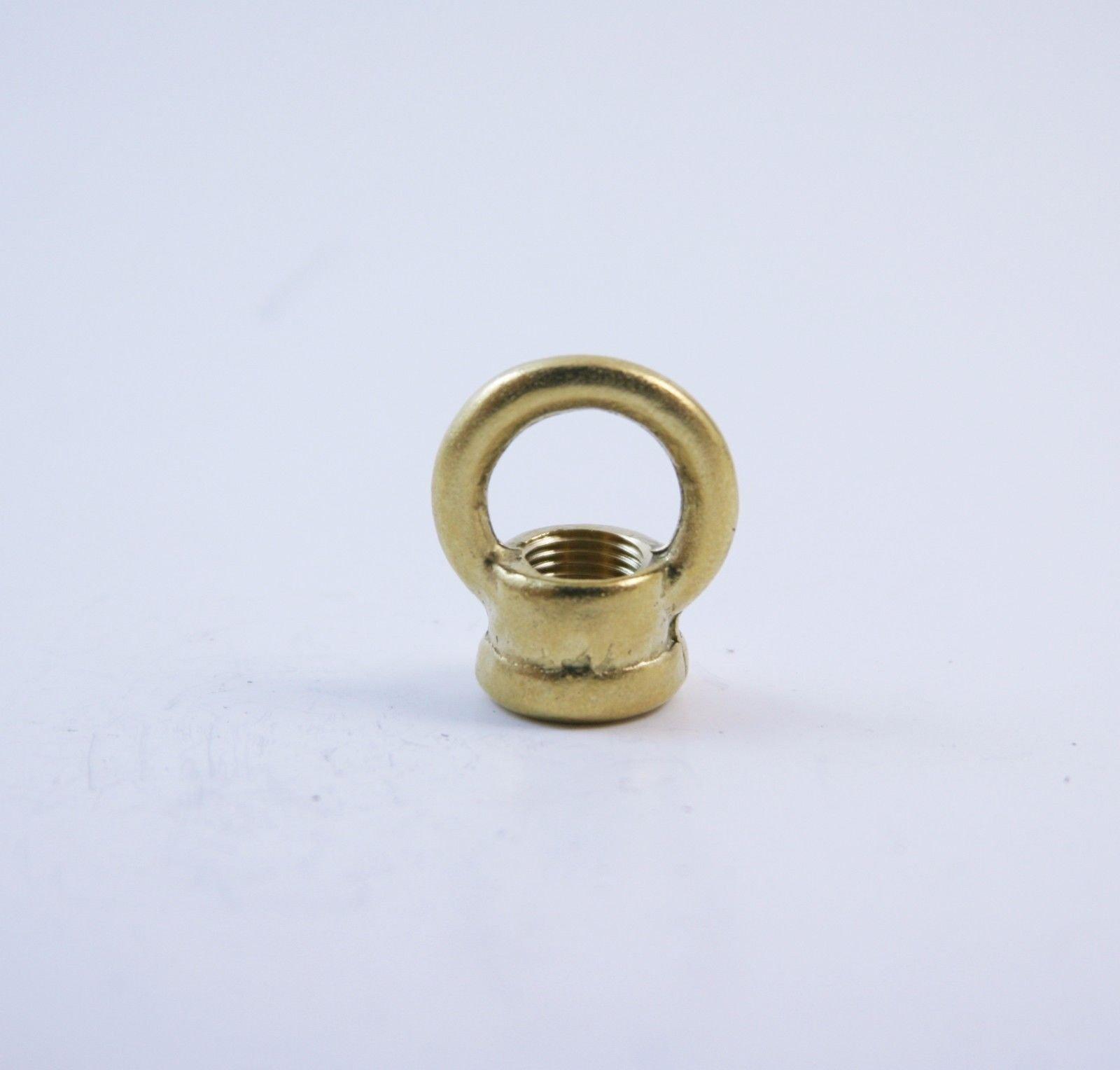 "Orange design 2 Pcs Unfinished Solid Brass Loop W Wire-way 3/8"" Female Thread For Chandelier"