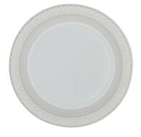 High Quality Luxury Model White Disposable Plastic Plates