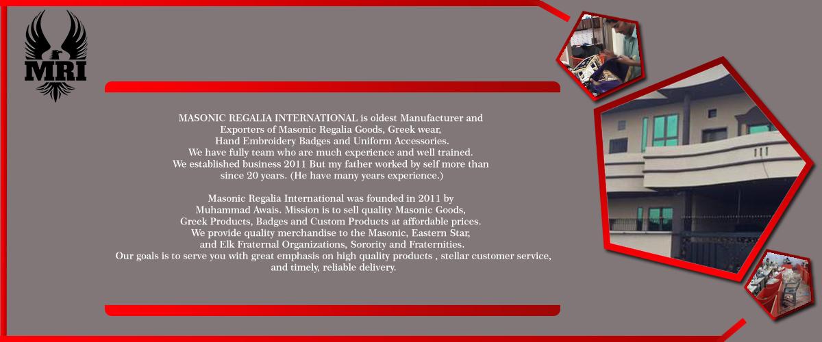 MASONIC REGALIA INTERNATIONAL - Masonic Regalia Products