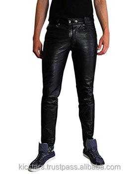 136ea772 Men Leather Pants Trouser Tight Leather Jeans - Buy Men Leather ...
