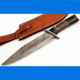 Beautiful Handmade Damascus Steel Hunting Knife Buffalo horn Bowie Knife