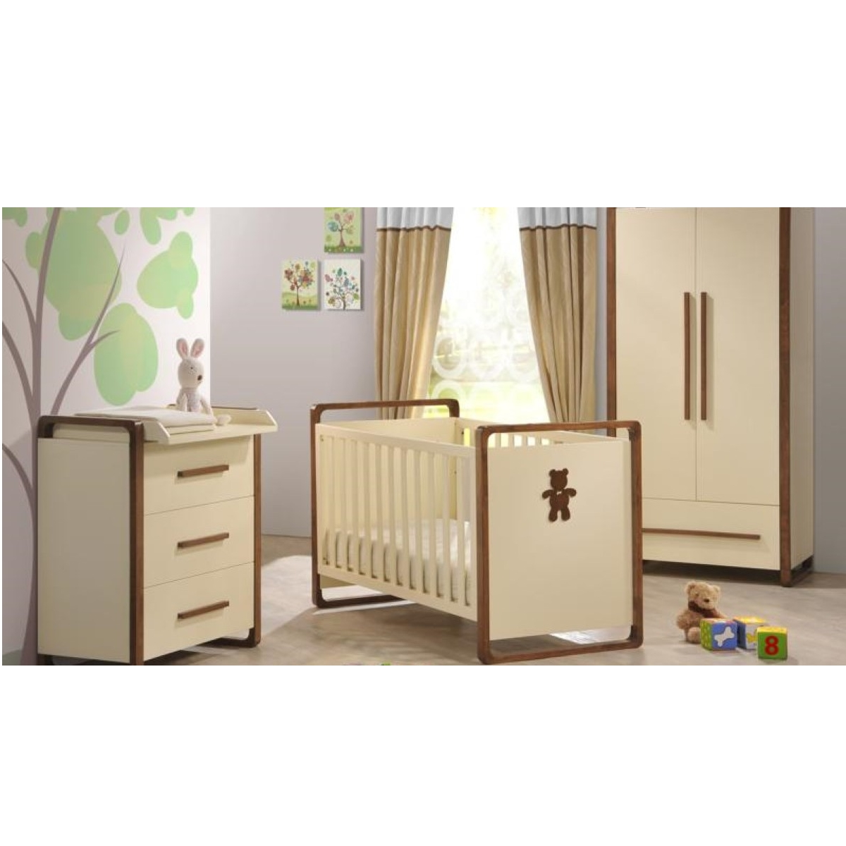 Baby Bed Room Set Crib With Wardrobe