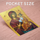 High Quality Eco Print Religious Saint Painting - Pocket Size Icon Printing - 350 GSM Glossy Print Paper
