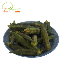Salty healthy snacks vacuum dried okra chips