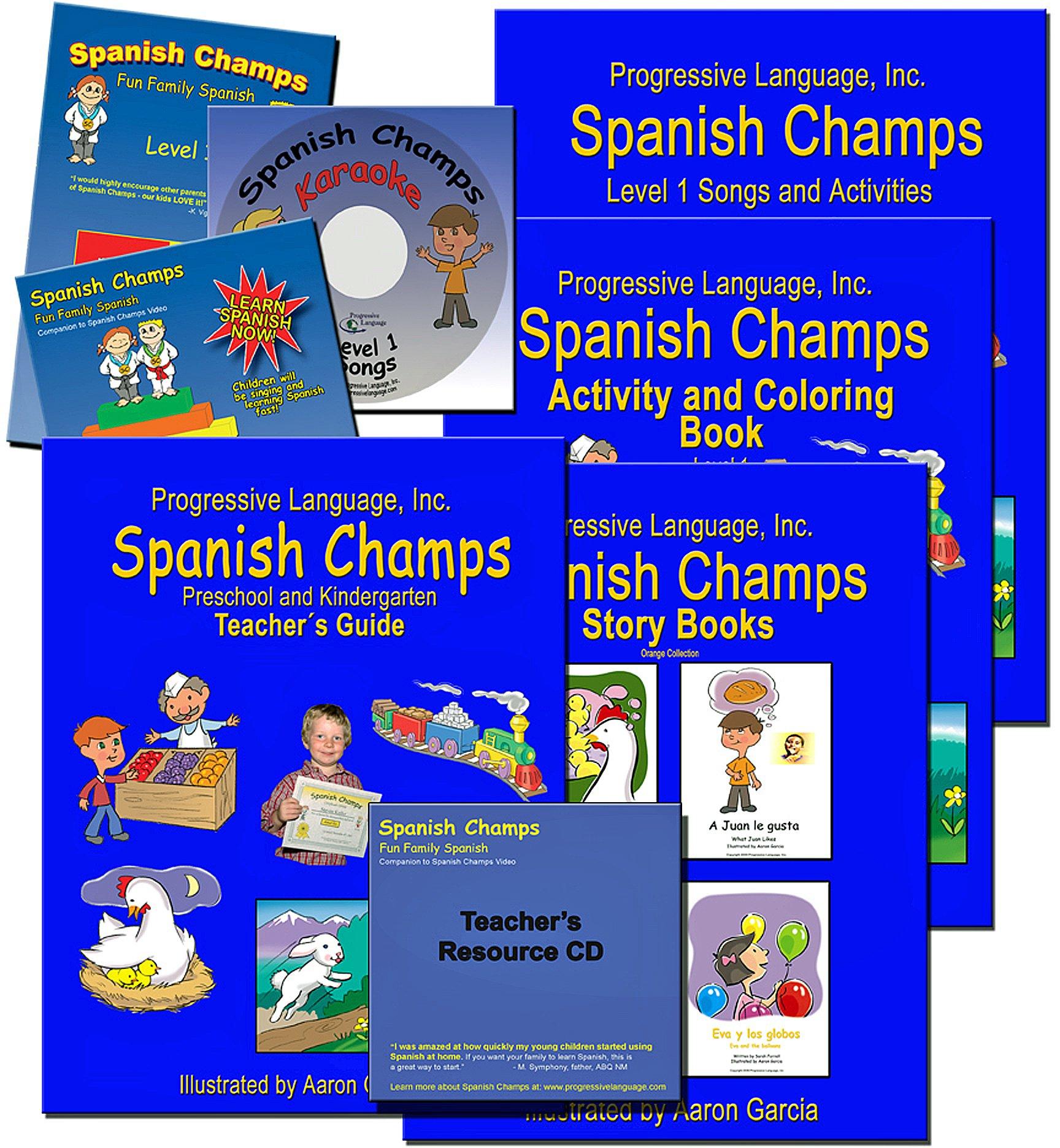 Preschool Spanish Curriculum, Spanish Champs Level 1 Kit