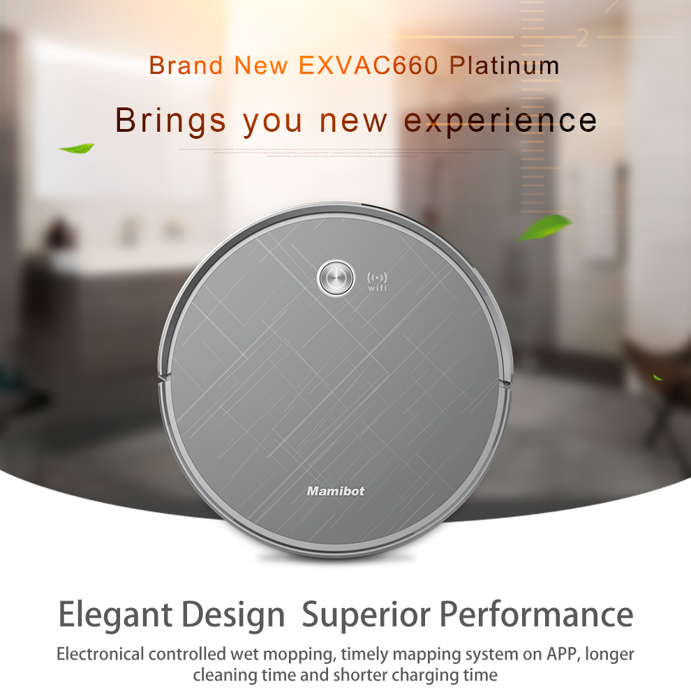 new robot vacuum cleaner with smart built-in camera laser navigation cloud  wifi control