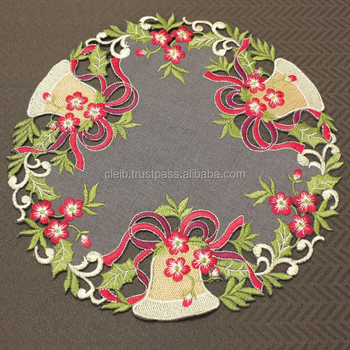 100 polyester original color christmas custom placemats round with