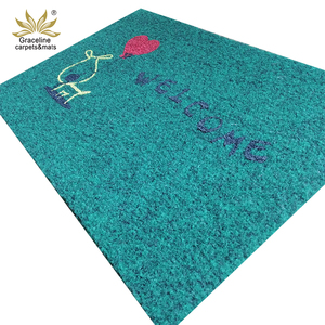 Indoor outdoor waterproof printed antislip pvc logo coir doormat