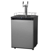 Double Taps China Beer Kegerator with High Cooling Efficiency