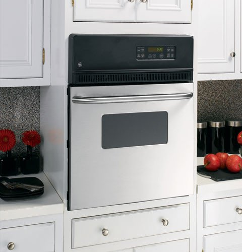 "GE JRP20SKSS 24"" 2.7 cu. ft. Total Capacity Electric Single Wall Oven in Stainless Steel"